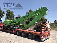 Перевозка строительной техники тралом по Украине / с Европы