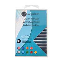 Набор картриджей с чернилами (9 цв) для перьевых ручек 30 шт.,код: MC0402AS