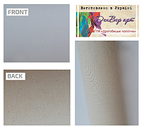 Полотно грунтоване в рулонах бавовна,середнє зерно,колір білий,розмір 1.59х12.85