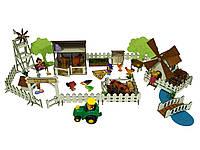 """Кукольная мебель, игровой набор """"Ранчо с механической Мельницей"""". Мебель для кукол до 20 см (1202)"""