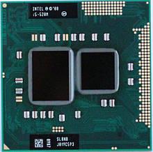 Процессор для ноутбука G1 Intel Core i5-520M 2x2,4Ghz (Turbo Boost 2,93Ghz) 3Mb Cache 2500Mhz Bus бу