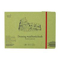 Альбом для акрила и масла AUTHENTIC (DRAWING) 24,5х17,6см 290г/м2 8л белая бумага SMILTAINIS, 5PB-8ST/OA