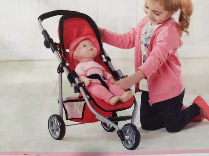 Візок ляльковий триколісний