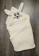 Конверт-одеяло для новорожденных весна-осень   Цвет молочный Турция
