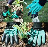 Садовые перчатки с пластиковыми наконечниками, фото 2