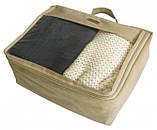 Набор дорожных сумок 5 шт (бежевый), фото 6