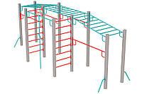 Оборудование для спортивных уличных площадок спортивный комплекс для детей от 12 лет Мега 640х190х252 см
