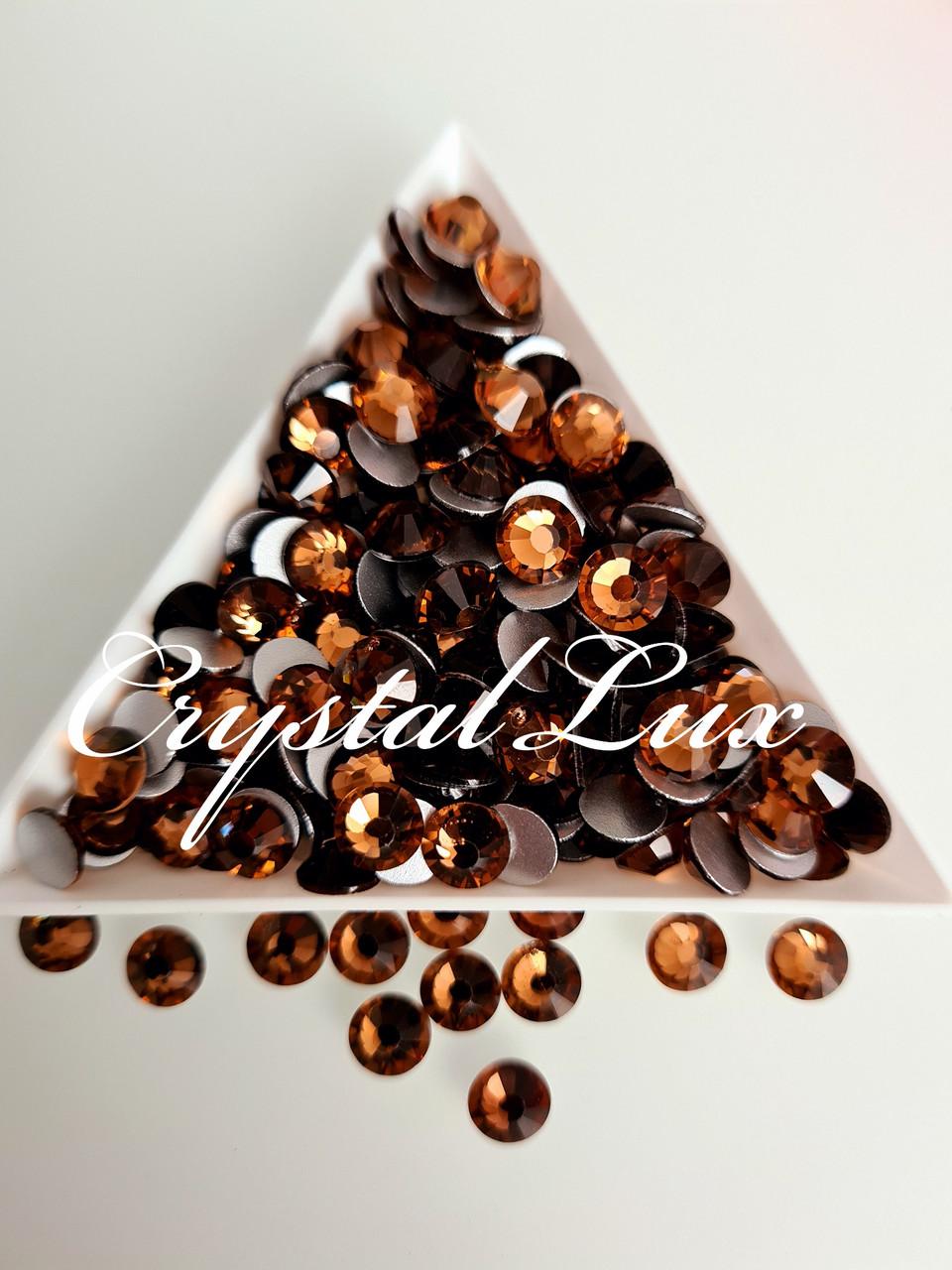 "Стразы ss30 Smoked Topaz 50шт. (6.5мм) ""Crystal Premium"""