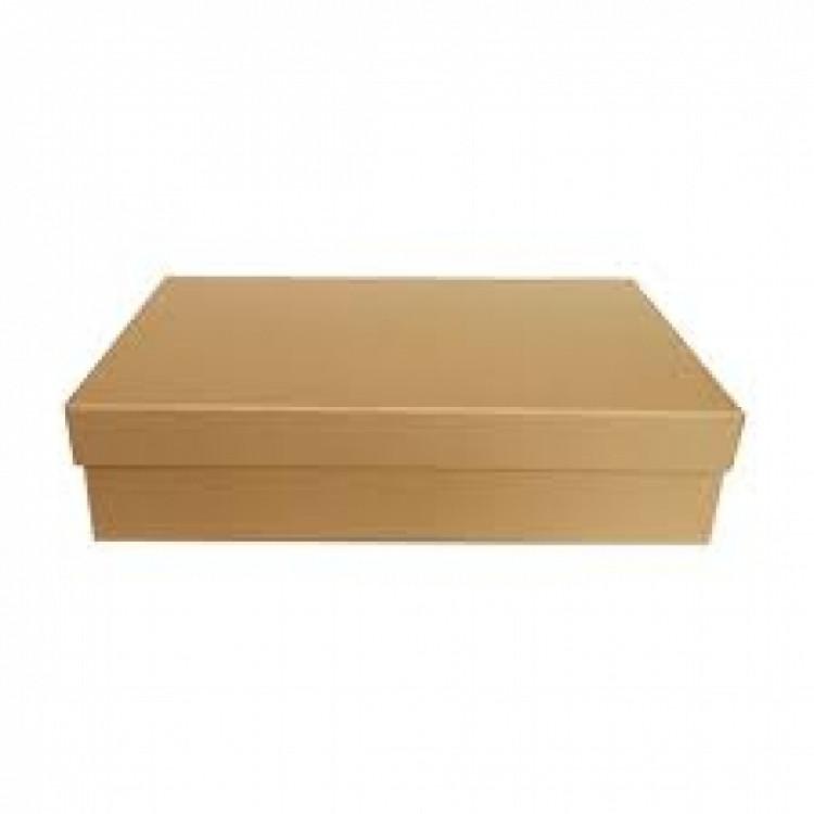 Подарочная коробка крафт 33х18х8 см