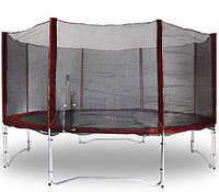 Защитная сетка с дверью бордовая для безопасности детей и взрослых для эксклюзивного батута MAROON 426 см