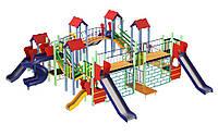 Большой многофункциональный игровой детский комплекс для общественной площадки от 6 до 12 лет 80 кг Крепость