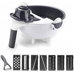 Мультислайсер 9 в 1 Basket vegetable cutter, овощерезка с насадками, нож дя чмистки в подарок