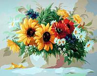 Картина по номерам Краски лета. Худ. Сергей Хлебников, 40х50 см., Babylon MS537 Цветы, фрукты, натюрморты, еда