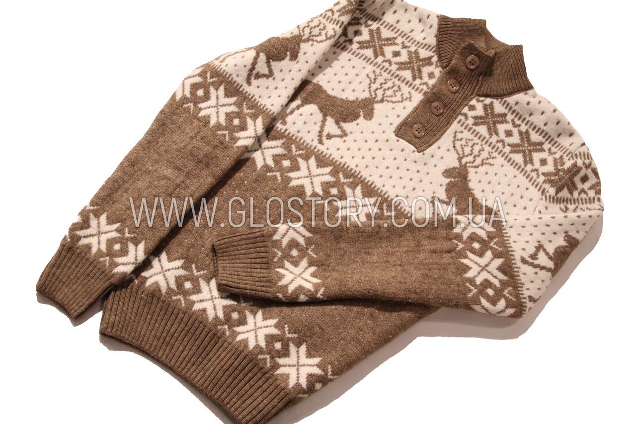 Мужской теплый свитер с пуговицами, Турция