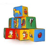 """Набор мягких кубиков """"Живой мир"""" 6 штук Розумна іграшка"""