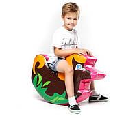 Мягкий игровой детский модуль-качалка для одного ребенка от 1 года для квартиры, дома, Собачка 70х50х23 см