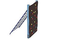 """Детская развивающая стенка-скалодром с металлической лазалкой для уличной площадки """"Эверест"""" 175х125х200 см"""