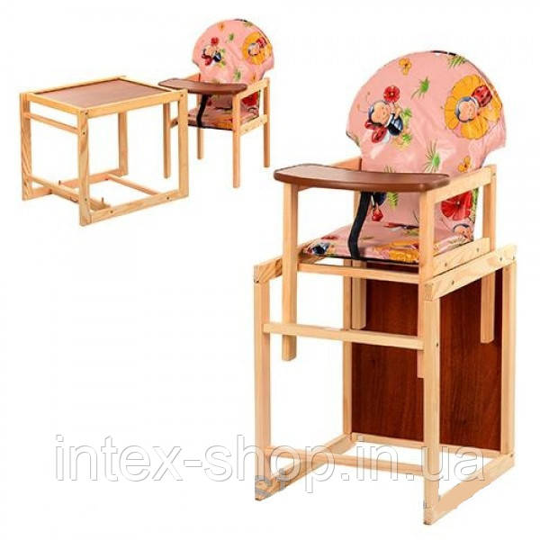 Дитячий дерев'яний стільчик для годування V-002-1