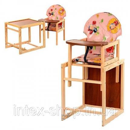 Дитячий дерев'яний стільчик для годування V-002-1, фото 2