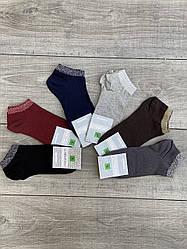 Женские носки Montebello, носки короткие однотонные с люрексом 36-40, 12 шт в уп микс из 6 цветов