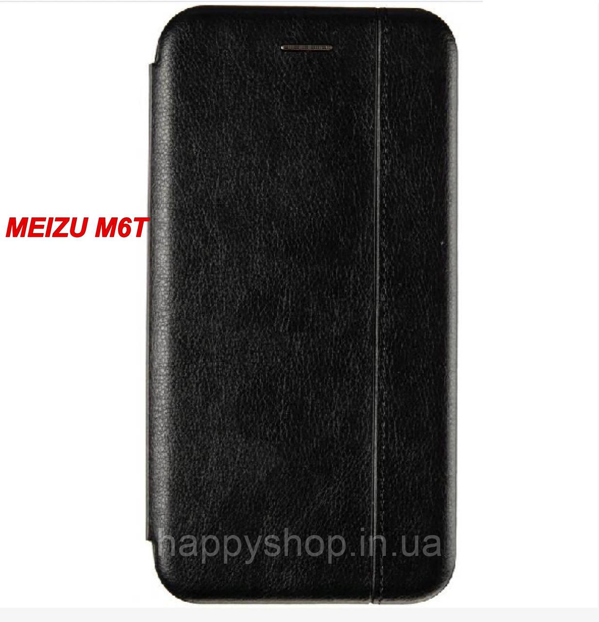 Чохол-книжка Gelius Leather для Meizu M6t (Чорний)