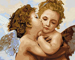 Картина по номерам Поцелуй ангела. Худ. Моро Густав, 40x50 см., Babylon VP430 Діти, ангели