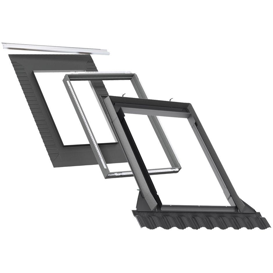 Комір Velux EDW 2000 +BDX для профільованого покрівельного матеріалу для мансардних вікон Велюкс Стандарт Плюс