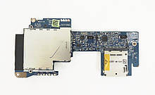 Доп. плата HP EliteBook 8540P 8540W Плата audio, Card, cardreader (LS-4954P) бу