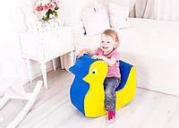 Мягкая игровая фигура-качеля для детей от 1 года для квартиры, детского сада или школы Уточка 55х22х55 см