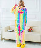 Пижама Кигуруми радужный единорог M, фото 3