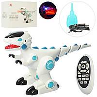 Детская Игрушка Интерактивный Динозавр на радиоуправлении, звуковые эффекты, отсек для воды, 36 см, арт. 28309