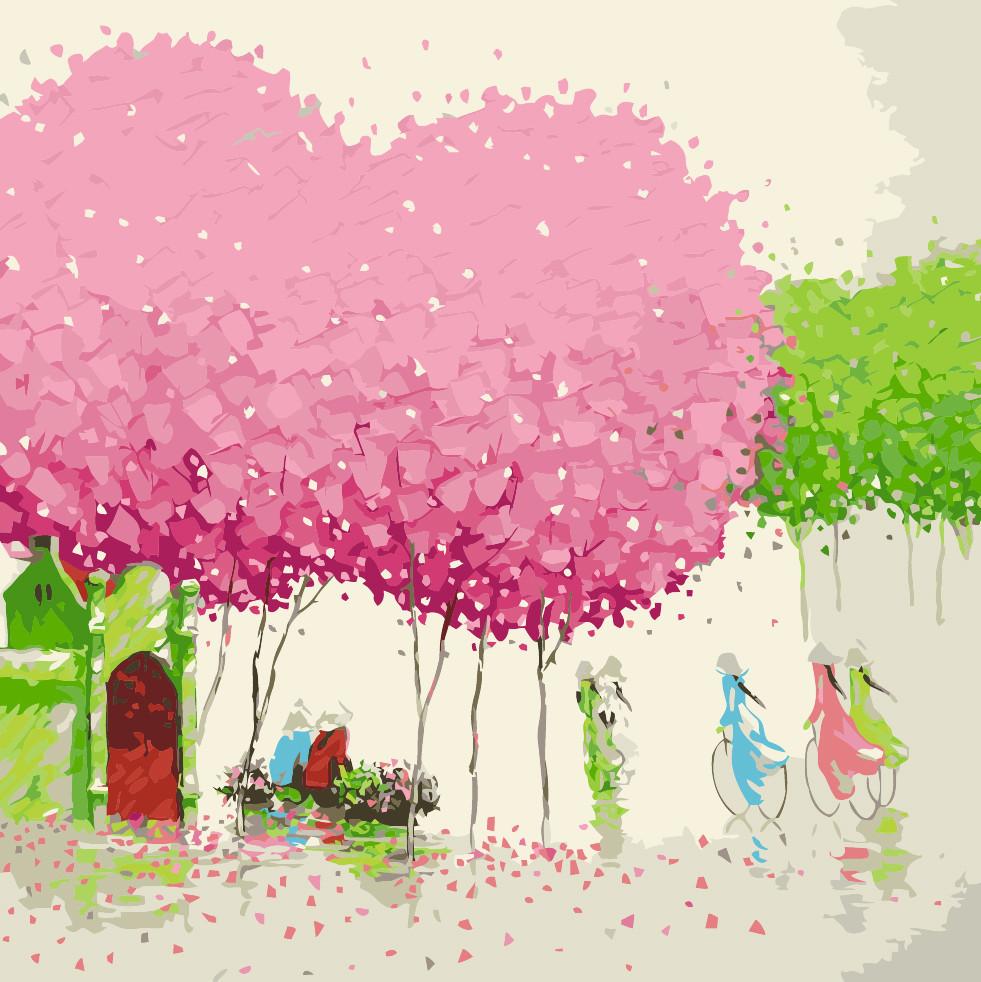 Картина по номерам Идейка КНО2163 Мелодия востока 40х40см ідейка картины Пейзаж, природа