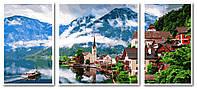 Картина по номерам Babylon VPT050 Летняя Австрия Триптих 50х150см рисование по  номерам Триптихи