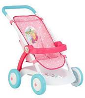 Детская Игровая Кукольная Прогулочная Коляска с корзиной Disney Princess Дисней Принцесс Smoby розово-белая