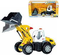 Игрушка Детская Интерактивная Для Мальчиков Машинка Экскаватор желтая со звуком и большими колесами Dickie Toy