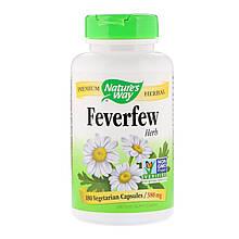 "Пижма Nature's Way ""Feverfew Herb"" 380 мг (180 капсул)"
