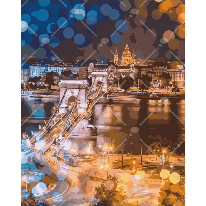 Картина по номерам Идейка КНО3541 Чарівність нічного міста 40х50см ідейка картины Городской пейзаж, дома