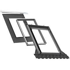 Комір Velux EDW 2000 +BDX для профільованого покрівельного матеріалу для мансардні вікна Велюкс Стандарт Плюс 78*118 см