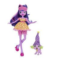 Детская Игровая Кукла для девочек с питомцем Equestria Girls Twilight Sparkle Твайлайт Спарк Девушки Эквестрии
