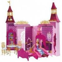 Детский Складной Большой Игровой Набор Кукла Штеффи и ее сказочный замок с мебелью и одеждой Simba Симба