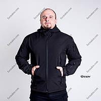 Тактическая Куртка Soft Shell ESDY TAC.-01 Black непромокаемая, фото 1
