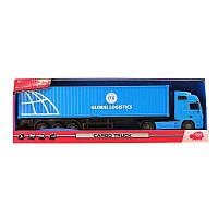 Детская Развивающая Фрикционная Игрушка Машинка Грузовик Международные перевозки синий 38 см Dickie Toys