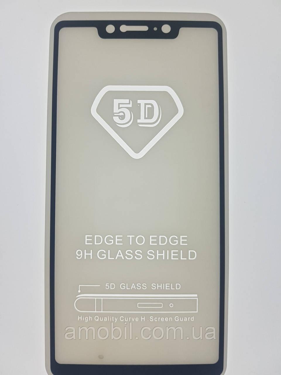 Защитное стекло 5D Xiaomi Redmi Mi8 SE full glue black