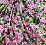 Соловьиные ночи 1891-3, павлопосадский платок шерстяной (двуниточная шерсть) с шелковой вязаной бахромой, фото 8