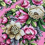 Соловьиные ночи 1891-3, павлопосадский платок шерстяной (двуниточная шерсть) с шелковой вязаной бахромой, фото 7