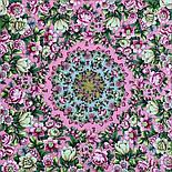 Соловьиные ночи 1891-3, павлопосадский платок шерстяной (двуниточная шерсть) с шелковой вязаной бахромой, фото 6