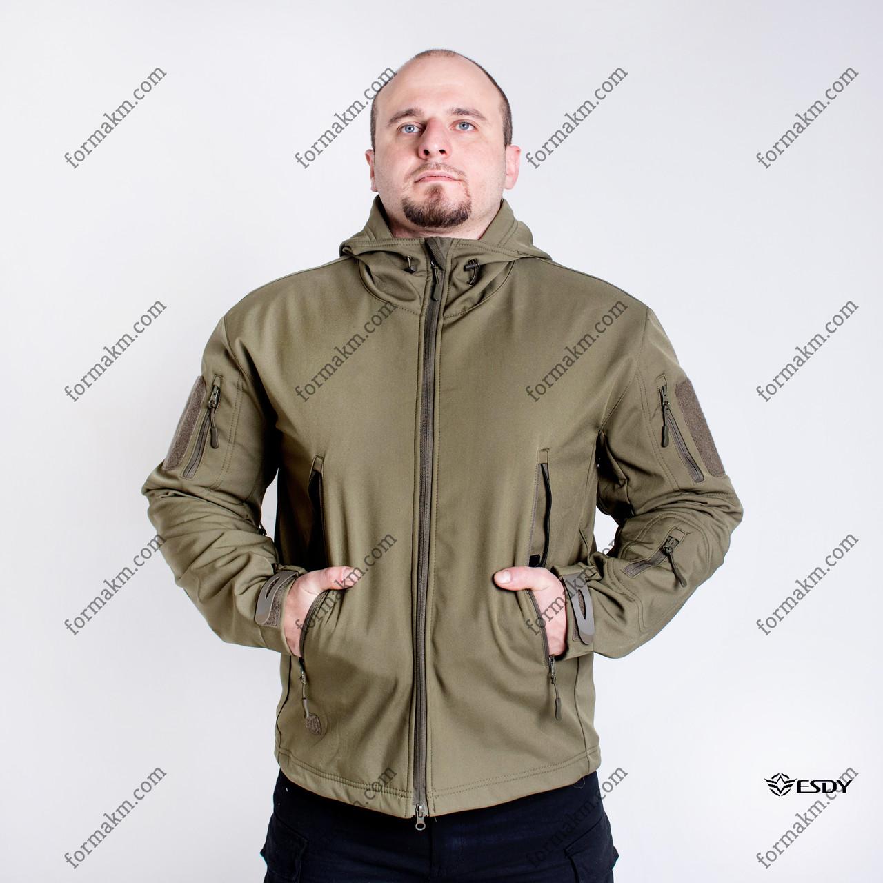 Тактическая Куртка Soft Shell ESDY TAC.-01 Olive непромокаемая