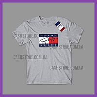 Футболка Tommy Hilfiger 'Vintage Flag' с биркой | Томми Хилфигер | Серая