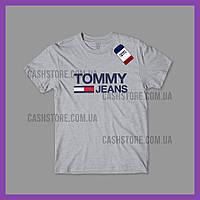 Футболка Tommy Hilfiger 'Classic Logo' с биркой | Томми Хилфигер | Серая