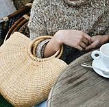 Соломенная сумка с ручками Сен-Лоран, фото 2